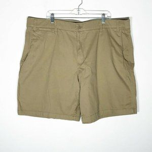 Foundry Shorts Mens 38 Tan Flat Front Cotton Blend